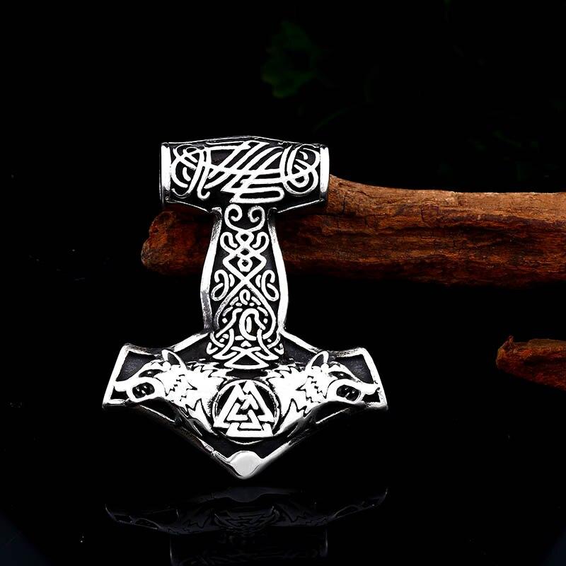 Collier acier inoxydable Viking ancre marine 3