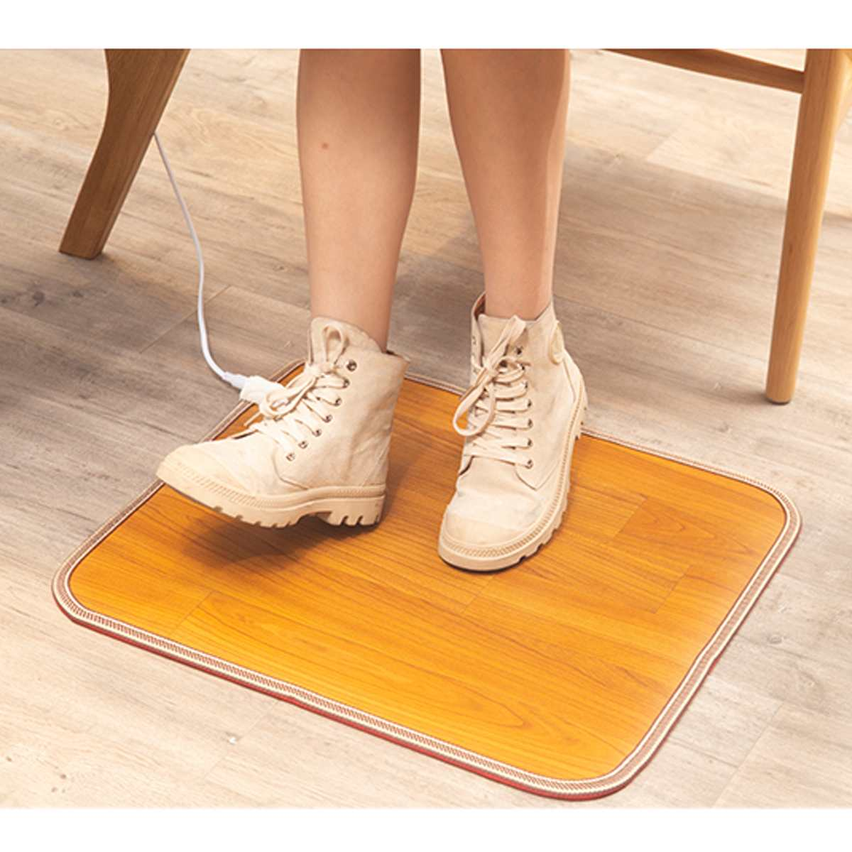 Heating Foot Mat Warmer Electric Heating Pads Feet Leg Warmer Carpet Thermostat Warming Tools Home Office