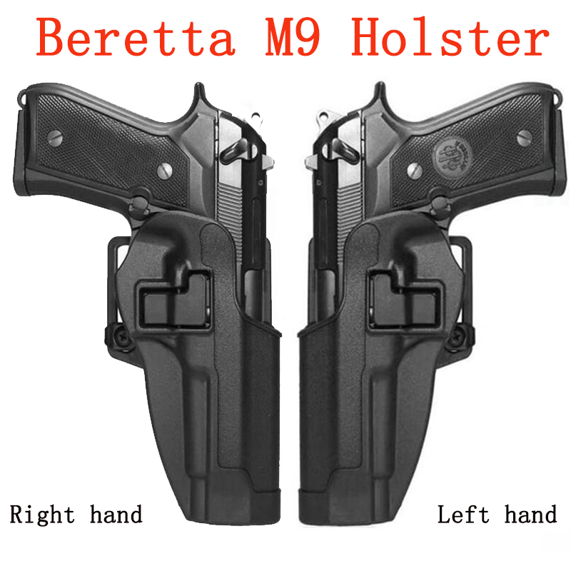 CQC Systematic Left/Right Hand Beretta M9 M92 M92F M96 Holster Gun Case Pistol Airsoft Holsters Belt Waist Hunting Equipment