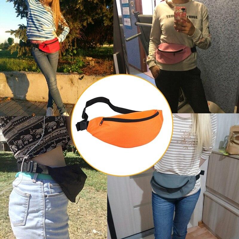 Fanny Pack For Women Men Waist Bag Unisex Waist Bag Belt Bag Zipper Pouch Packs Orange