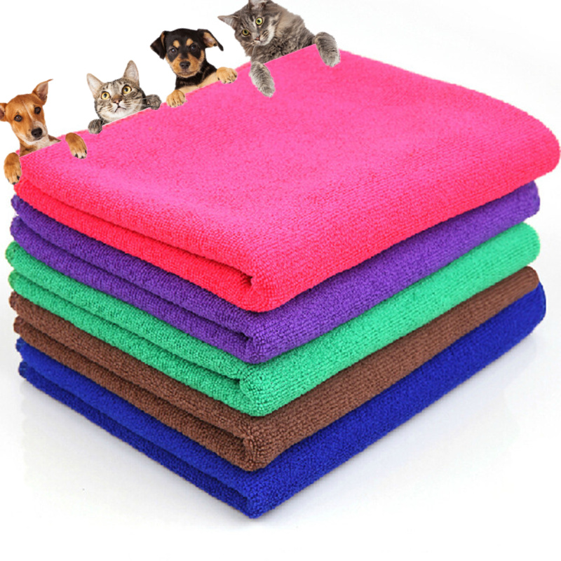 New Solid Dry Hair Towels font b Pet b font Supply Fast Drying Grooming Microfiber Towel