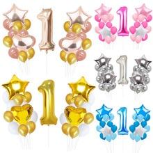 1st фольгированные шары-цифры 1 фольгированные шары мини-торт globos baby shower День рождения украшения детские игрушки