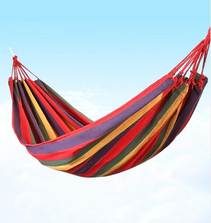 1 Set Portable Hammock Hang Bed 150 Kg Load-bearing Outdoor Garden Travel Camping Swing Survival Outdoor Sleeping