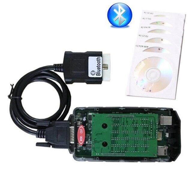 5ピース/ロットdhl vd ds150e cdp wow bluetooth V5.008 R2 vdプロdelphisためobd OBD2スキャナ