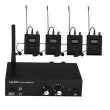 עבור ANLEON S2 UHF סטריאו אלחוטי צג מערכת 670 680MHZ 4 מודלים מקצועי דיגיטלי שלב ב אוזן צג מערכת 4 מקלטים