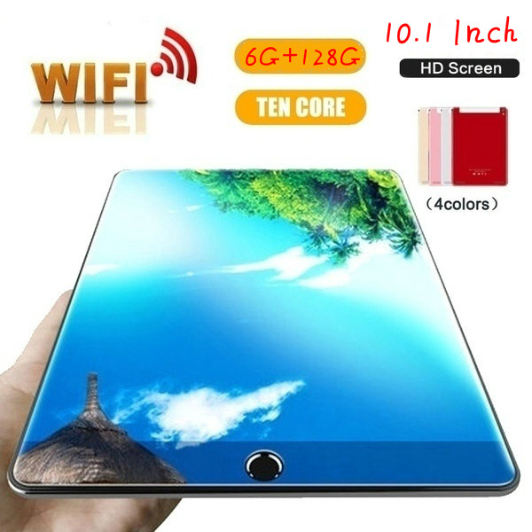 2020 WiFi Tablet PC 1280*800 IPS Screen 10.1 Inch Ten Core 6G+128GB  Android 8.0 Dual SIM Dual Camera Rear 5.0MP IPS 4G Phone