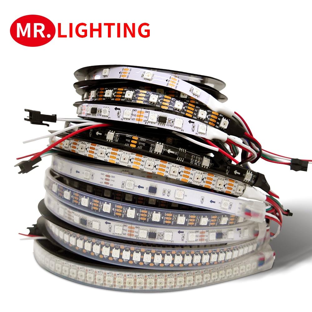 WS2815 WS2812B WS2811 LED licht streifen 5050 lampe perlen neon zeichen smart pixel address dual signal RGB voll farbe LED streifen