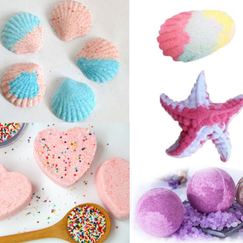 16PCS 6 Style DIY Metal Bath Bomb Mold Crafting Bath Bombs Handmade Soaps & Cake
