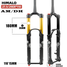 Suspension Gabel DH BIN Unten Hill Steckachse 110MM * 15MM Reise 180MM Mountainbike MTB LUFT gabel