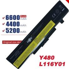 Новый аккумулятор для ноутбука LENOVO G580 Z380 Z380AM Y480 G480 V480 Y580 G580AM L11S6Y01 L11L6Y01, 6 ячеек, бесплатная доставка