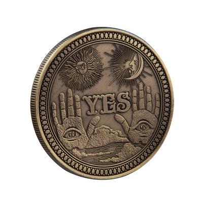Sim/não ouija gótico previsão decisão moeda todos vendo olho ou morte anjo níquel eua morgan dólar moeda