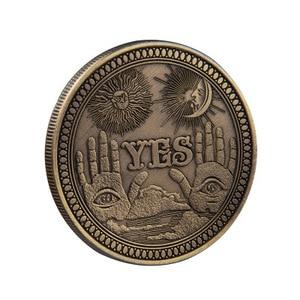 Да/Нет Ouija готическое решение о предсказании монета все глаза или Ангел Смерти никель сша Морган доллар Монета