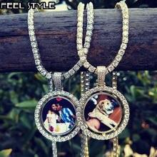 Ожерелье и кулон для мужчин ювелирное изделие на заказ круглая