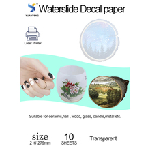 Decal Spray Papel Laser Water-Slide-Decal Printing-Paper Transparente Clear for Cup Nail-Art