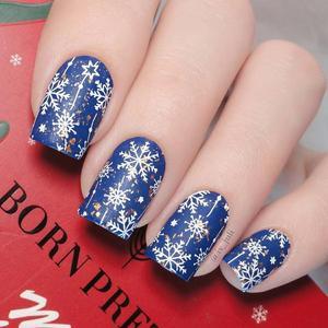 Image 4 - Noël ongles estampage plaques en acier inoxydable modèle timbre plaque Nail Art Image bricolage outil de conception