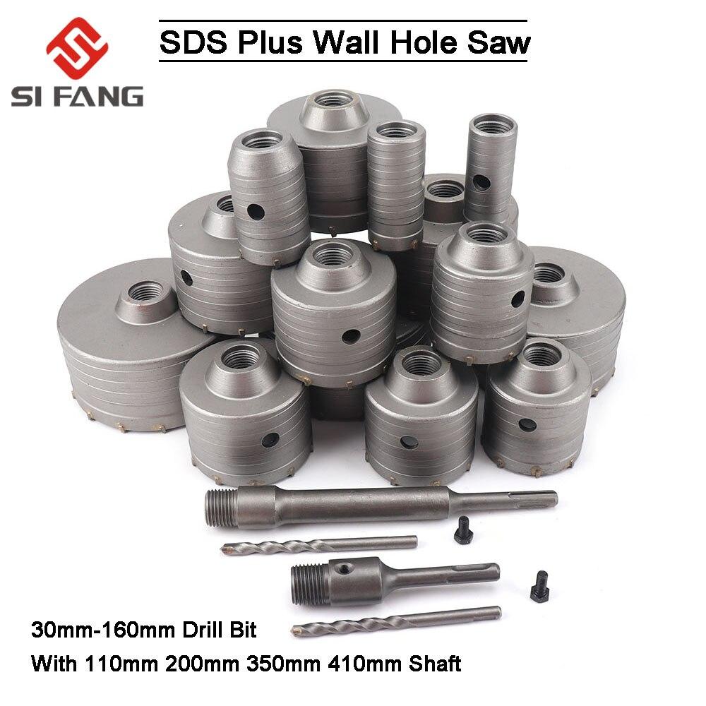 Отверстие для бетона SDS PLUS 30 мм-160 мм, электрическое сверло с полым сердечником, хвостовик 110/200/300 мм, цементный камень, стена, кондиционер, спл...