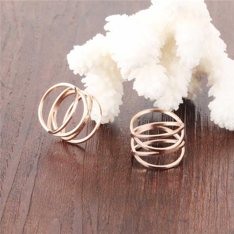 ใหม่ Gold Cross แหวนแฟชั่นผู้หญิงแหวนเครื่องประดับแหวนหมั้นสุภาพสตรีบุคลิกภาพแหวนสำหรับของขวัญผู้หญิง