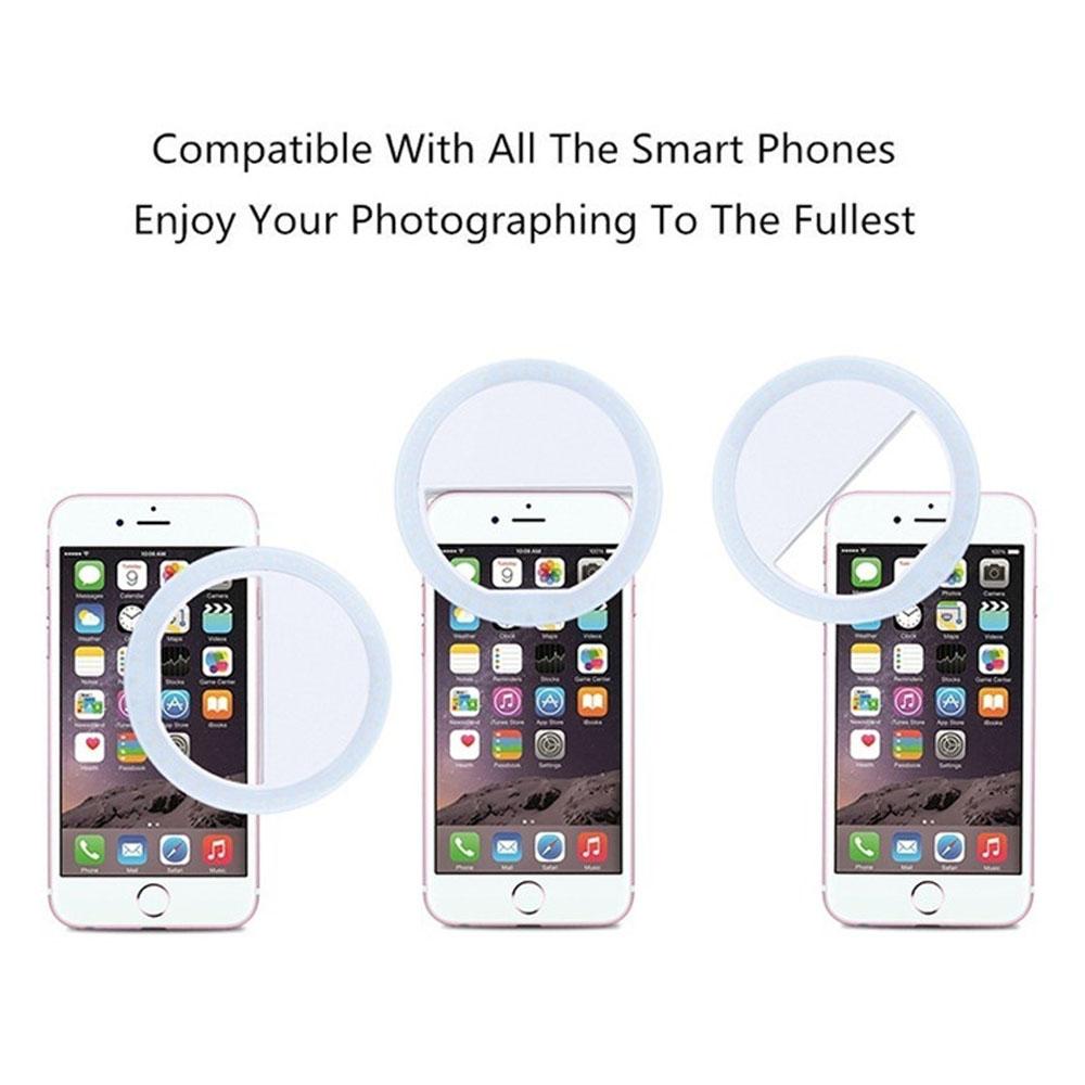 H1ac7789f1a0a4c8e96cf3bc15cd3ace4j - Selfie LED Ring Fill Light Portable Mobile Phone 36 LEDS Selfie Lamp 3 levels Lighting Luminous Ring Clip For All Cell Phones