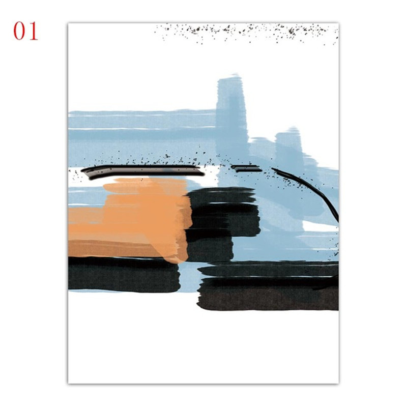 Minimalism Abstract Colorful Graffiti Line Painting Home Decor Canvas Print Pictures Study Nordic A4 Poster Living