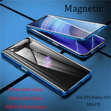 Magnetic Case for ZTE Nubia Z20 NX627J Case Front+Back double-sided 9H Tempered Glass Case Nubia Z20 NX627J Metal Bumper Case
