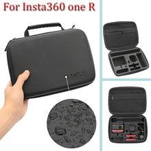 Para insta360 um r twin edition portátil saco de armazenamento insta 360 um r 360 mod/ 4k grande angular câmera caso transporte acessórios