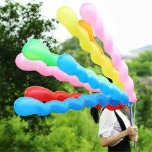 100pcs/lot Long 36inch Screw Thread Latex Balloon Float Air Balls Inflatable Wedding Birthday Party Baloon Decoration Toys