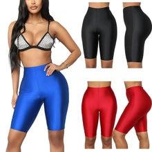 Женские шорты для йоги и тренировок с высокой талией однотонные