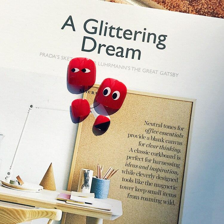 J-146, красный цвет, милый летний день, ногти на ногах, клей, наклейки для ногтей, накладные ногти