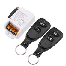 Interruptor de controle remoto sem fio da c.c. 12 v 24 v 48 v 1ch do interruptor do rf de 433 mhz, transmissor de couro preto, entrada 12-48 v do receptor