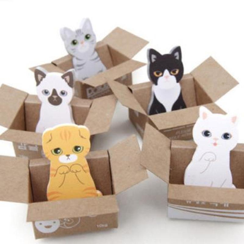 1pcs Cat Memo Pad Kawaii Stationery Novelty Memo Sheets Cute Cartoon Planner Stickers Student Sticky Note Kawaii School Supplies