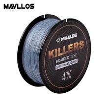 Mavllos – ligne de pêche tressée 4 brins, 0.06-0.6mm 4-121Lb, 150m, Multifilament d'eau salée Super forte 4W PE