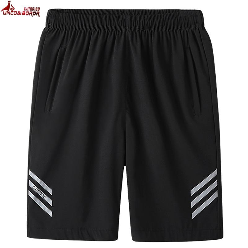 Plus Size 7XL 8XL Men Summer Streetwear Casual Shorts Fitness Board Shorts Breathable Elastic Waist Sports Workout Short Men