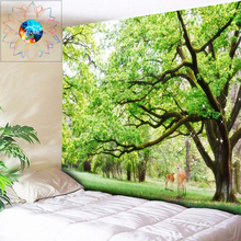 Boho Decor Natural Tapestry Forest Wall Mandala Hanging Psychedelic Tree Bohemian Hippie Custom