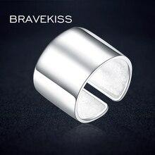 BEAVEKISS, большое, панк, 925 пробы, серебряное, регулируемое, широкое кольцо на палец, унисекс, для женщин, образец, Открытое кольцо, браслет, бижутерия, ювелирное изделие, BLR0329