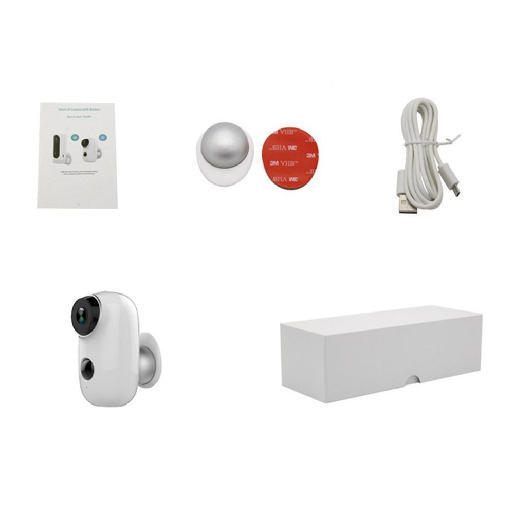 Casa inteligente À Prova D' Água Câmera de Vigilância Câmera Móvel Sem Fio de Baixa Potência Wifi Monitoramento Remoto Intercom