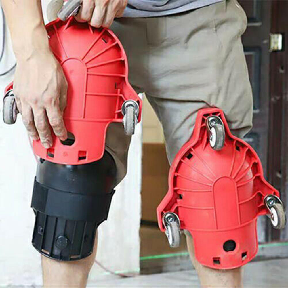 1pcs Knee Pad Rolling Wheels Mobile Flexible Gliding Protection For Work Construction Job Site NCV