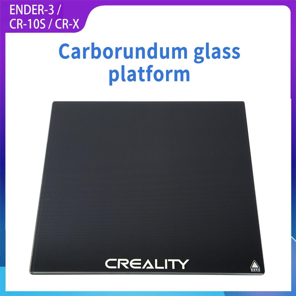 CREALITY 3D Drucker Gehärtetem Glas Platte 235*235 Beheizt Brutstätte Bauen Oberfläche für Ender-3/Ender-3 Pro/Ender-3 v2/CR-X/CR-10