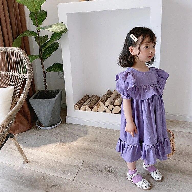 DaMohony Enfants B/éb/é Fille Robe Sans Manches Florale /À Volants Swing Dress Summer Beach Holiday Dress