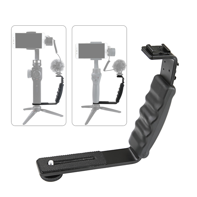 Handheld Gimbal Stabilizer L-type Handle Expansion Holder Bracket Mount For DJI Osmo Mobile 2 Accessories / Zhiyun Smooth 4