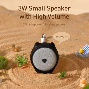Image 5 - Baseus Portable Bluetooth Speaker Better Bass Colorful Animal Model Waterproof Stereo Sound Mini Speaker For Home & Car