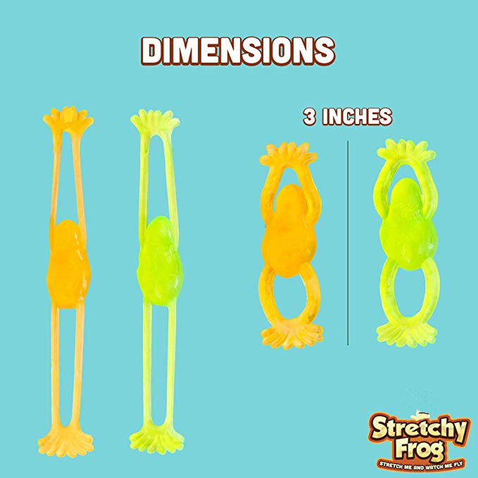 Flying Sticky For Frog 10 Pcs | Stretchy, Slingshot Slimy Frogs Gel Sensory Toys ,best Party Favors, Birthday Parties, For Se