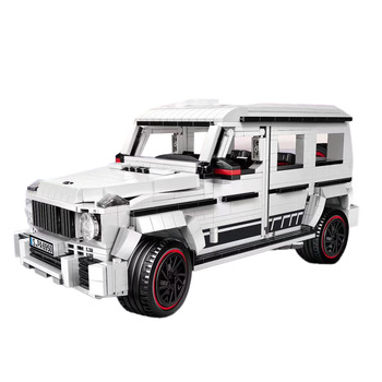 1048Pcs 1:16 Moc Small Particle Building Blocks Pickup Truck Model For Children Educational Toys Birthday Gift - Static Version