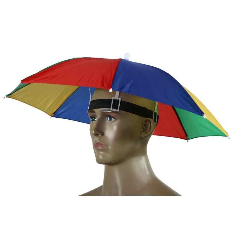 Шляпа зонтик от солнца для походы, рыбалка, пеший туризм свободными руками Применение в солнечные дни, и для дождливой погоды на открытом воздухе снаряжение для активного отдыха софтбокс в виде защитного для детей и взрослых