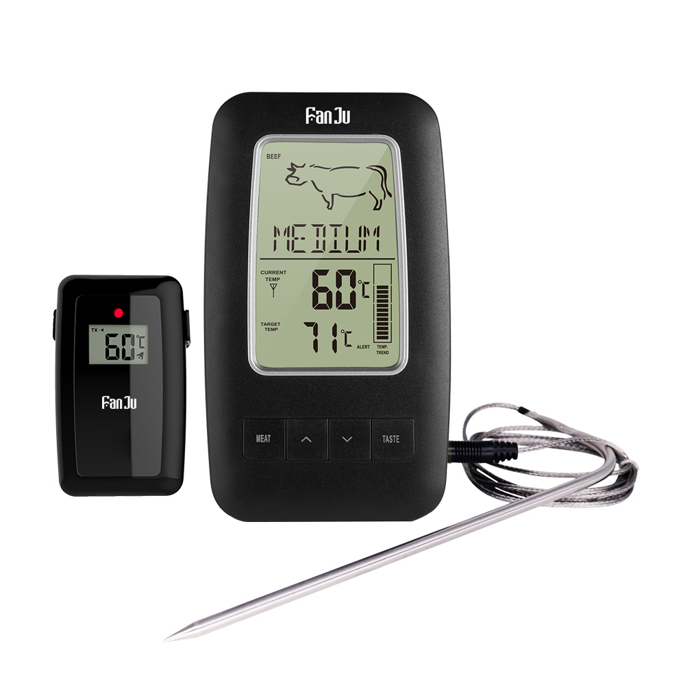 FanJu FJ2245 Kitchen Wireless Food Thermometer Electronic Digital Remote Alarm Cooking Meat Water Milk Thermometer BBQ Tool