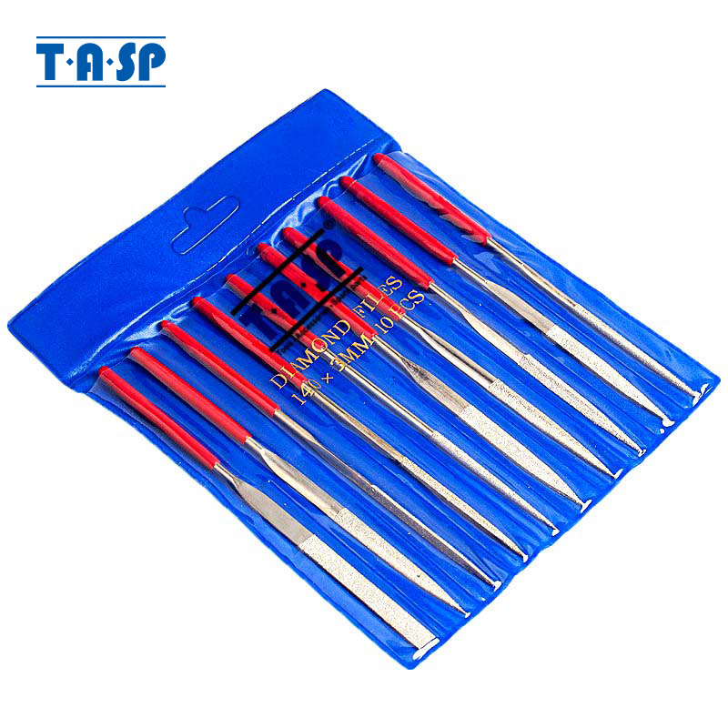 TASP 10pcs 140mm Set di lime per aghi rivestite di diamanti Utensili - Utensili manuali - Fotografia 1