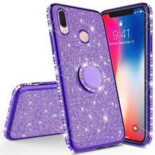 Glitter Diamant Fall Für XiaoMi Mi A2 lite RedMi Hinweis 7 8 Pro 7s 6 6A 6 PRO 5 plus Note 5 Pro K20 Magnetische Finger 360 Ring Abdeckung
