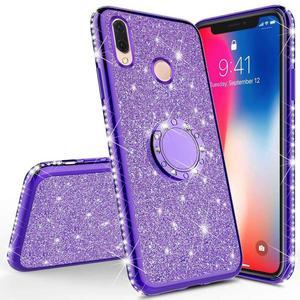 Glitter Diamond Case For XiaoMi Mi A2 lite RedMi Note 7 8 Pro 7s 6 6A 6 PRO 5 Plus Note 5 Pro K20 Magnetic Finger 360 Ring Cover(China)