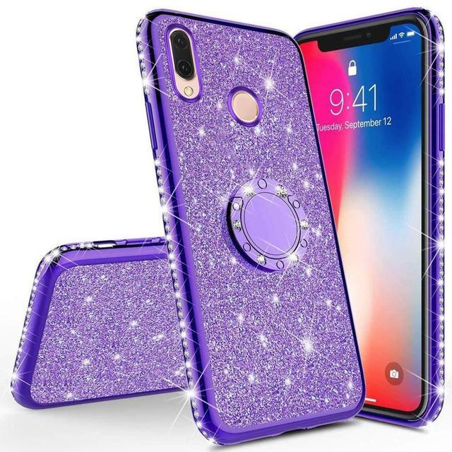 Glitter Diamond Case For XiaoMi Mi A2 lite RedMi Note 7 8 Pro 7s 6 6A 6 PRO 5 Plus Note 5 Pro K20 Magnetic Finger 360 Ring Cover