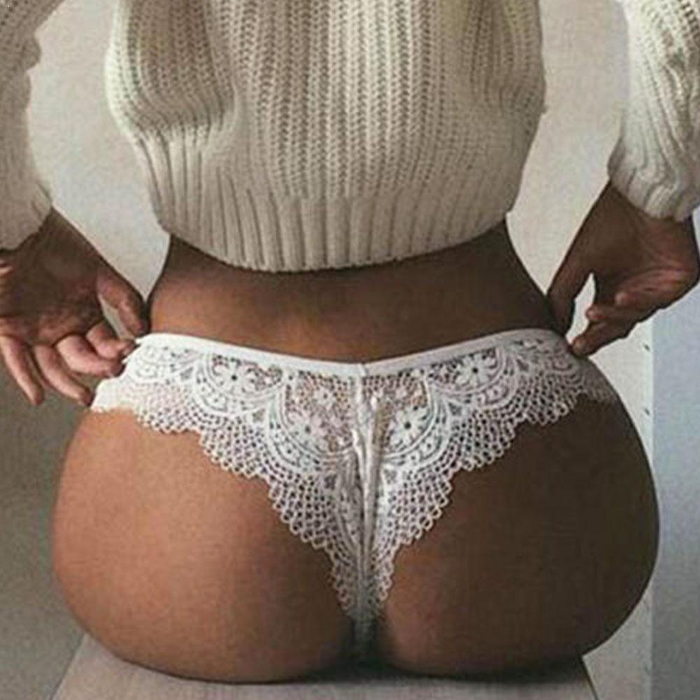 Translucent G String Underwear Sexy Underpant Erotic Thong Sheer Panties Intimates Lace Seamless Plus Women's Lingerie Size G3Q0
