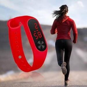 Digital Clock Luminous-Watches Woman Watch Electronic-Sport-Sensor Waterproof Fashion
